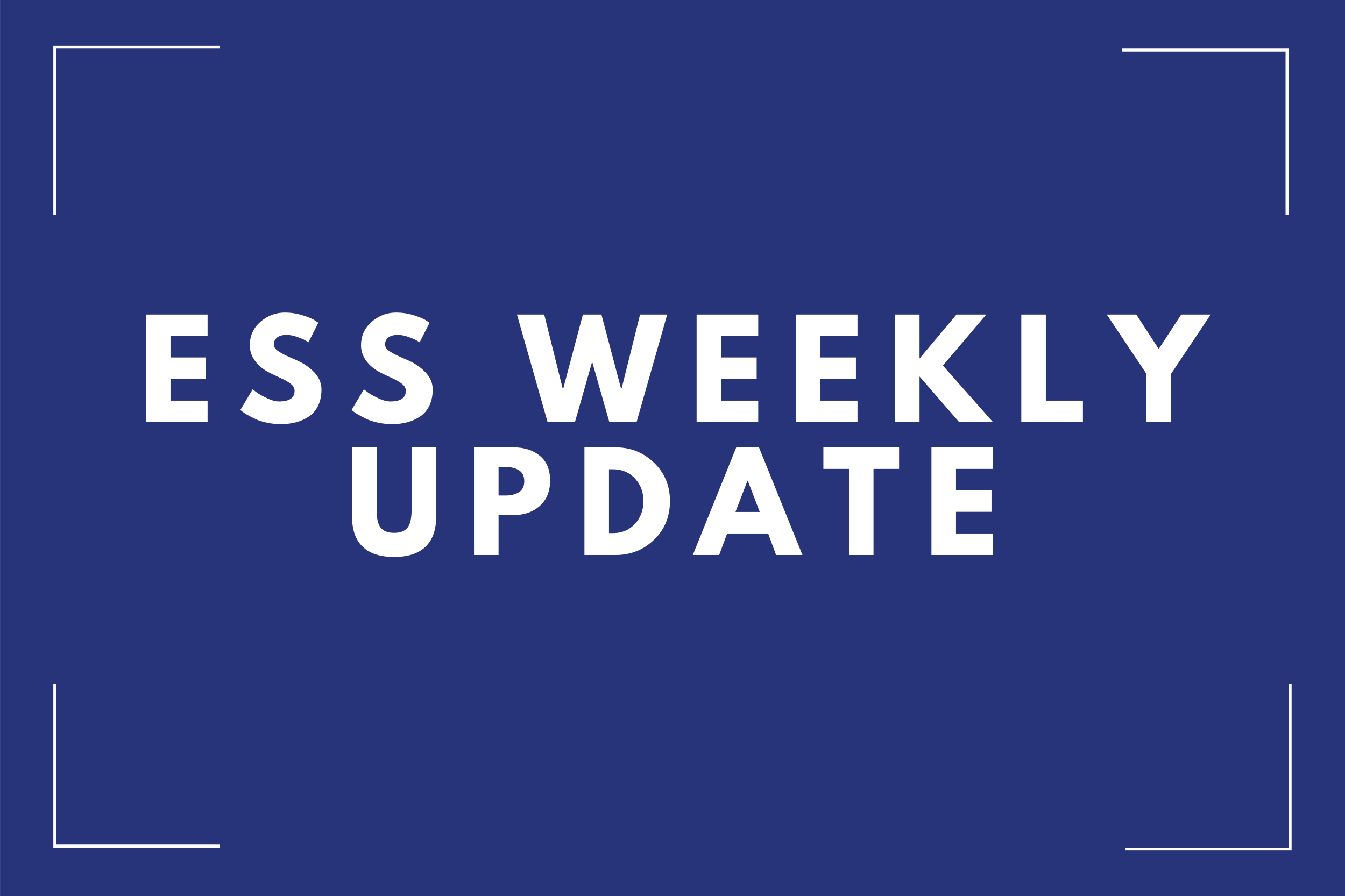 WEEKLY NSW ESS ANALYSIS WE 8TH DECEMBER 2019